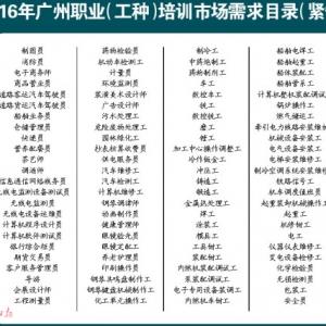 广州96个工种技能培训最高补贴3500元,因为紧缺人